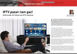 Endüstriden Haberler- IPTV pazarı tam gaz!
