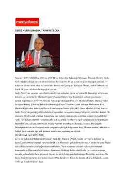 Medya Faresi - Çevre ve Şehircilik Bakanlığı