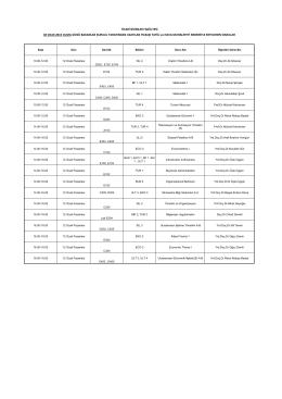 TİCARİ BİLİMLER FAKÜLTESİ 02 OCAK 2015 CUMA GÜNÜ