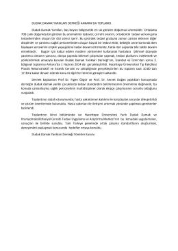 Dudak Damak Yarıkları Derneği Toplantı 1 Haziran 2014 Basın