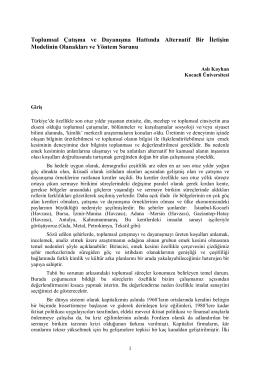 Aslı Kayhan Toplumsal Çatışma ve Dayanışma Hattında Alternatif