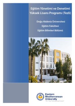 Eğitim Yönetimi ve Denetimi Yüksek Lisans Programı (Tezli)