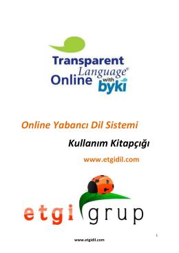 Online Yabancı Dil Sistemi Kullanım Kitapçığı