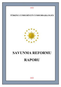 SAVUNMA REFORMU RAPORU - T.C. Cumhurbaşkanlığı