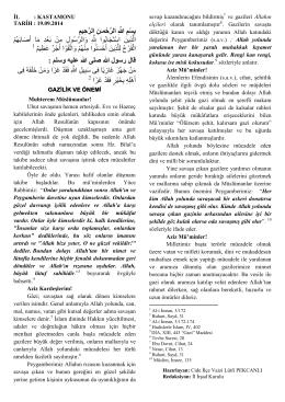 gazilik ve önemi 2014-09-19