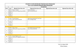 felsefe ve din bilimleri yükseklisans programı 2013
