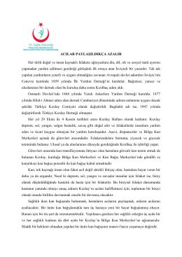 Kızılay Haftası - İstanbul Anadolu Güney Kamu Hastaneleri Birliği
