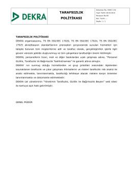 DKR.F.142.TARAFSIZLIK POLİTİKASI.Rev.00