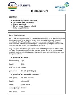 RHODUNA® 470 - Galtek Kimya