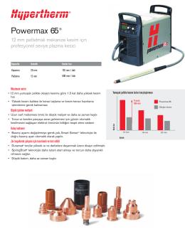 Powermax 65A - ŞahinCNC - CNC Plazma Kesim Makinaları