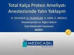 Geriatrik Total Kalça Artroplastisi Anestezi Yönetiminde Yalın