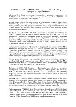 TÜRKSOY Üyesi Ülkeler UNESCO Millî Komisyonları ve Komiteleri