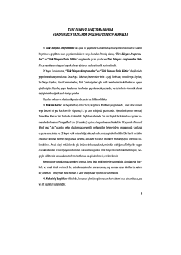 Sayfa 5 ve 6 - Türk Dünyası Araştırmaları Vakfı