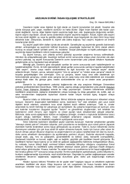 Arzunun Evrimi - Hasan BACANLI, Prof.Dr.
