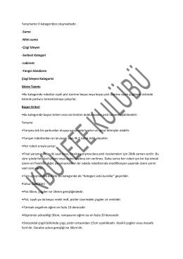 Kategoriler - KBÜ-SKS