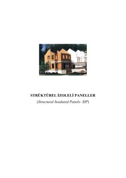 STRÜKTÜREL İZOLELİ PANELLER (Structural Insulated Panels