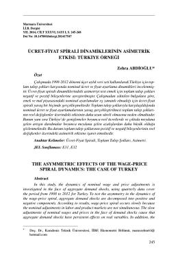ücret-fiyat spirali dinamiklerinin asimetrik etkisi