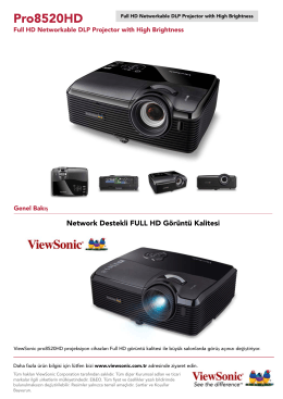 Full HD Networkable DLP Projector with High