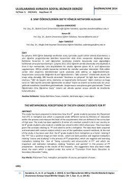 uluslararası avrasya sosyal bilimler dergisi