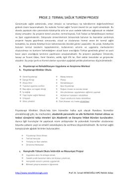 PROJE 2 - Prof. Dr. İsmail EKİNCİOĞLU