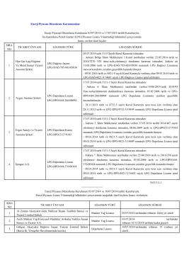 Enerji Piyasası Düzenleme Kurulunun 03/07/2014 ve 17
