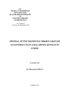 HÜSEYİN KANDULU - Trakya Üniversitesi
