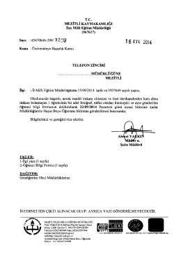 16 nı 2014 - mersin - mezitli ilçe millî eğitim müdürlüğü