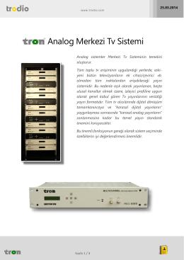 Analog Merkezi Tv Sistemi