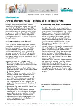 Artroz (kireçlenme) – eklemler gıcırdadığında