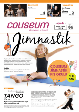 ajanda - Coliseum Sportif Yaşam Kulübü
