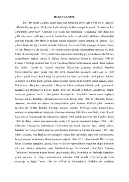 HALET ÇAMBEL - Bilim Akademisi