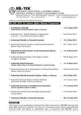 Bil-TEK 2014 Program - BİL-TEK Endüstriyel Teknik Eğitim ve