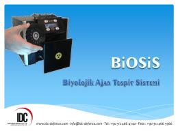 Biosis Sunum (pdf) - Biyolojik Ajan Tespit Sistemi