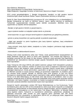 Demir İnözü - Türk Müşavir Mühendisler ve Mimarlar Birliği