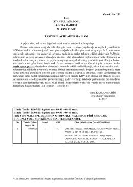 Örnek No: 25* T.C. İSTANBUL ANADOLU 4. İCRA