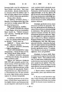 TBMM B : 93 25. 5 . 1989 O - Türkiye Büyük Millet Meclisi