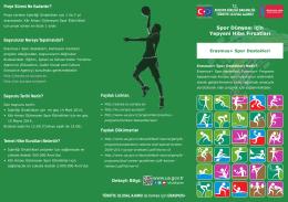 Erasmus+ Spor Destekleri