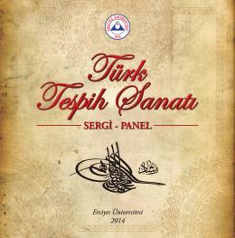 Türk Tespih Sanatı - Erciyes Üniversitesi Etkinlik Takvimi