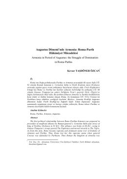 Roma-Parth Hâkimiyet Mücadelesi - Ankara Üniversitesi Dergiler