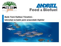 Balık Yemi Kalitesi Yönetimi– teknoloji ve balık yemi arasındaki ilişkiler
