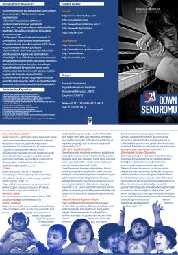down sendromu - Engelliler Araştırma Enstitüsü
