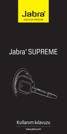 Jabra® SUPREME - Jabra.com.tr