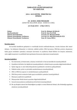 Kurul-III - Tıp Fakültesi
