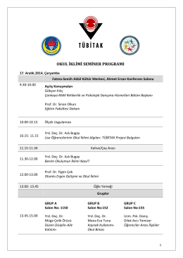 okul iklimi seminer programı