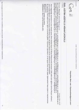 Alan değişikline sehven yazılan okullar 02.12.2014 11:02