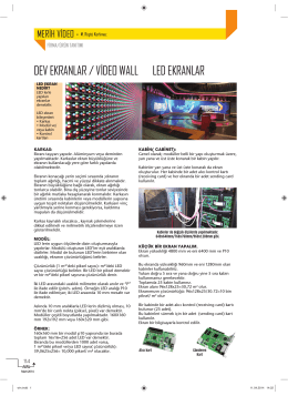 DEV EKRANLAR / VİDEO WALL LED EKRANLAR