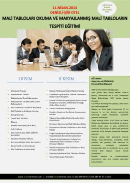 eğitim broşürü - ORTAK Seminer Merkezi