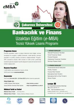 Bankacılık ve Finans - Çukurova Üniversitesi | Uzaktan Eğitim
