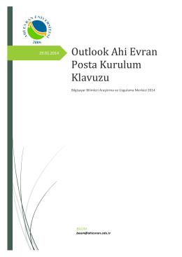 Outlook Kullanım Yönergesi - baum