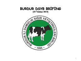 Özet Brifing - Burdur DSYB